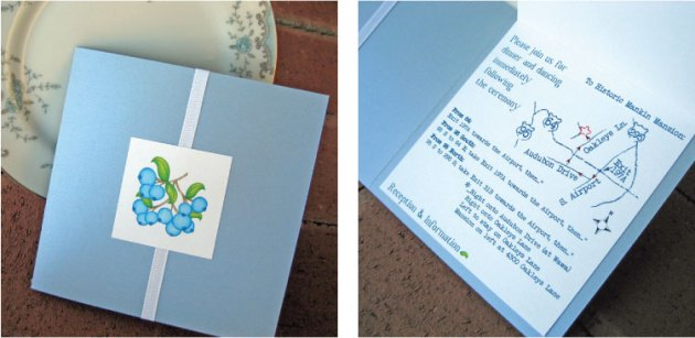 Blueberry Wedding Invitation