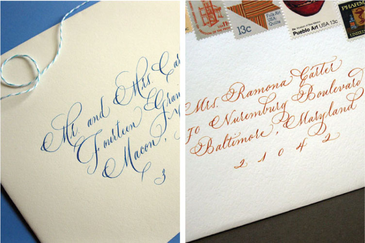 grace edmands calligraphy - Addressing Wedding Invitations Etiquette