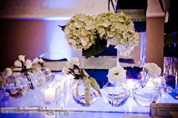 Green and blue Modern Preppy tablescape