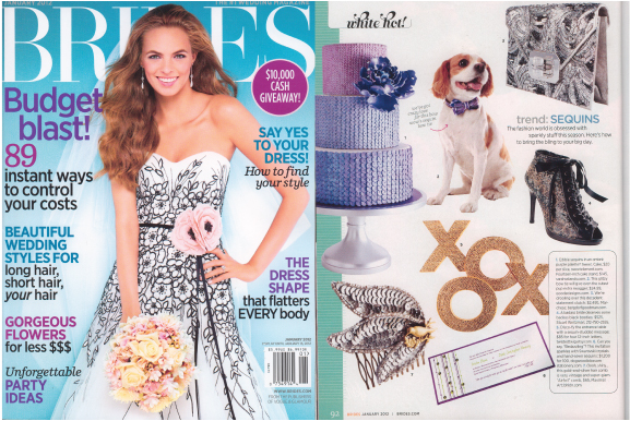 Plum purple and jade green invitation by Dogwood Blossom Stationery, featured in BRIDES magazine Jan 2012.