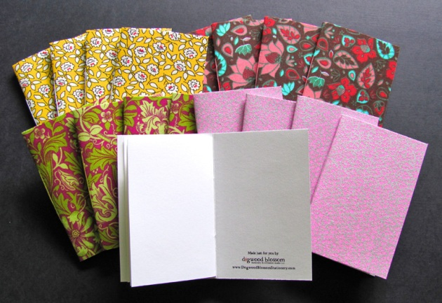 Fabric blank scratchbooks