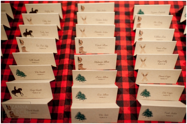 Winter Country Rustic Wedding - escort cards