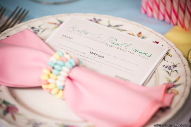 Candy land themed wedding table top decor