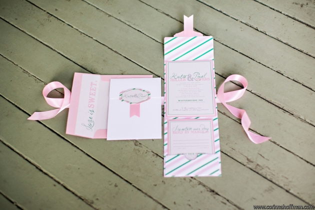 Candy Land themed wedding invitations