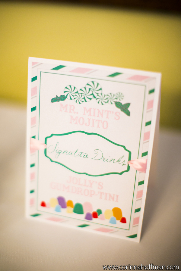 Candy land themed wedding signature drink