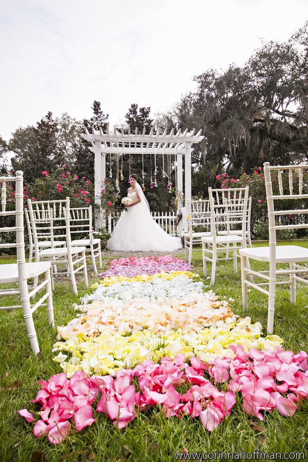Candy land themed wedding outdoor Florida weddings