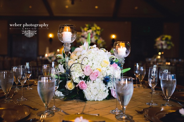 Weber Photography, TPC Sawgrass, Dogwood Blossom Stationery, centerpiece