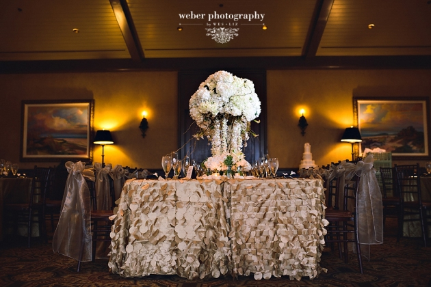 Weber Photography, TPC Sawgrass, Dogwood Blossom Stationery, head table