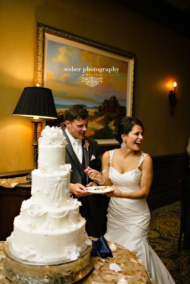 Weber Photography, TPC Sawgrass, Dogwood Blossom Stationery reception papers, cake