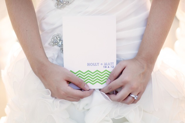Dogwood Blossom Stationery, Wings of Glory, Mission Inn Resort, wedding invitation, modern, green, purple, chevron print