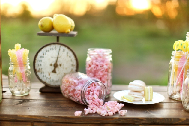 Wings of Glory, Dogwood Blossom Stationery, Lemonade-inpsired candy buffet