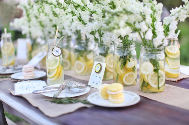 Doogwood Blossom Stationery, Wings of Glory Photography, wedding reception table inspiration, lemonade wedding