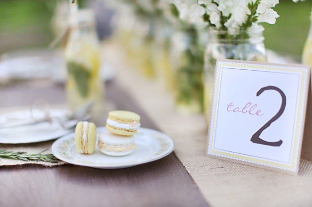 Dogwood Blossom Stationery, Wings of Glory Photography, wedding table number, lemonade wedding