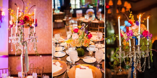 ClairePacelliPhoto_CountryClubofOrlando_DBS_ floral centerpiece collage