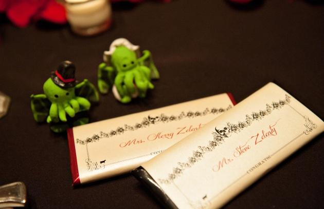 KerryandSteve_Skulls and Rosses_DBS_custom candy bar sleeve for bride and groom