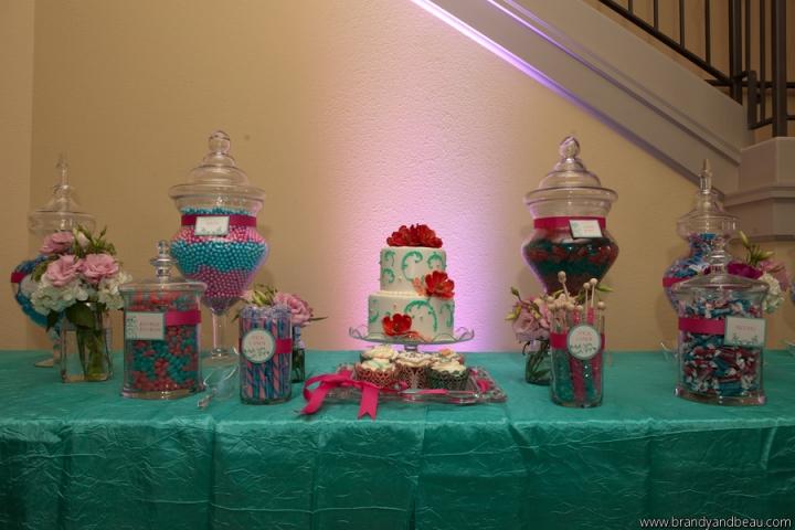 Brandy and Beau Photography, Rosen Shingle Creek, FL Southern College, Dogwood Blossom Stationery, Dessert Bar