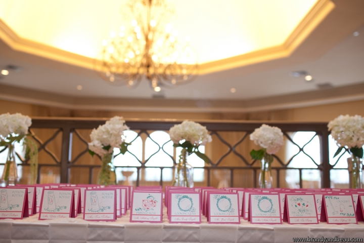 Brandy and Beau Photography, Rosen Shingle Creek, FL Southern College, Dogwood Blossom Stationery, Escort Cards