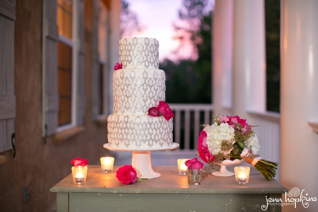 Pink-and-gray-wedding-Dogwood-Blossom-Stationery-cake-table.jpg