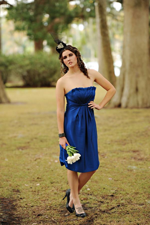 Royal Blue Wedding Invitations by Dogwood Blossom Stationery
