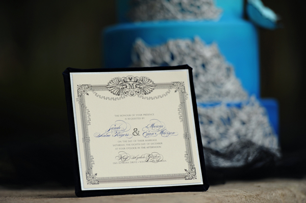 Ornate Wedding Invitations by Dogwood Blossom Stationery