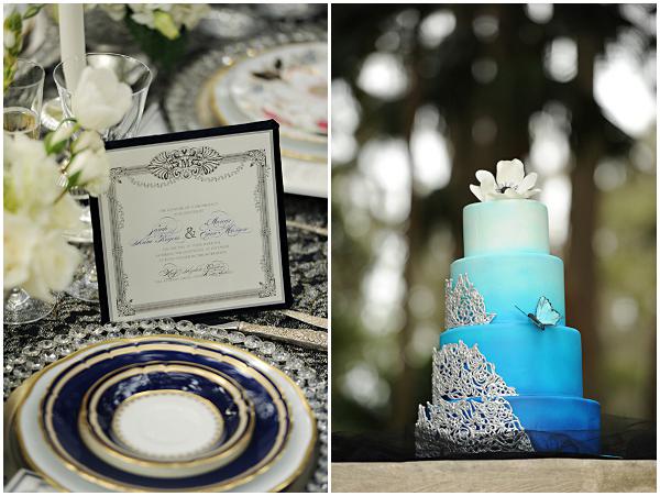Elegant Wedding Invitation by Dogwood Blossom Stationery