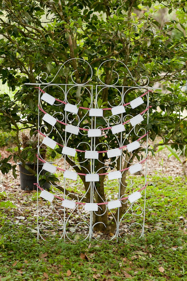 Bumby Photography, Harmony Gardens, Dogwood Blossom Stationery, Escort Card Display