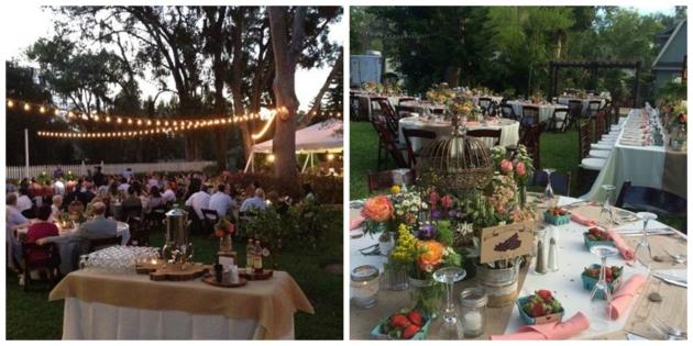 Anna Christine Events, Dogwood Blossom Stationery, backyard wedding