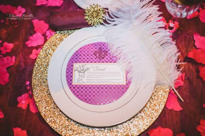 Radiant Orchid Wedding Menu by Dogwood Blossom Stationery