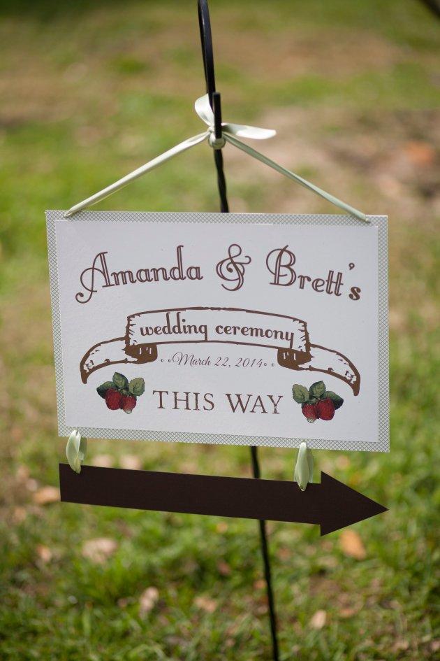 Sarah Bray Photography, Anna Christine Events, Dogwood Blossom Stationery ceremony sign