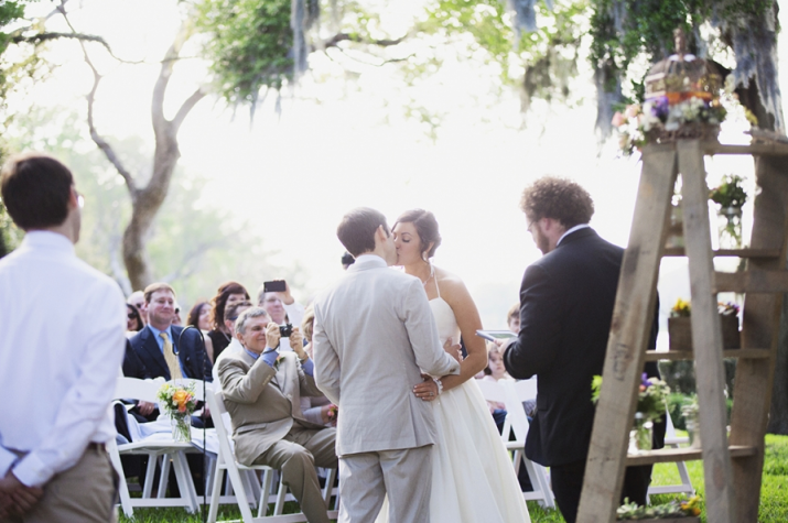 Sarah Bray Photography, Anna Christine Events, Dogwood Blossom Stationery, ceremony with guests