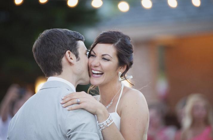 Sarah Bray Photography, Anna Christine Events, Dogwood Blossom Stationery, couple kiss