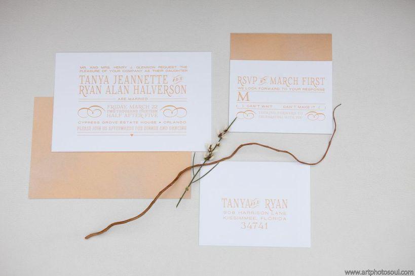 ArtPhotoSoul, Cypress Grove Estate House, Dogwood Blossom Stationery custom invitations