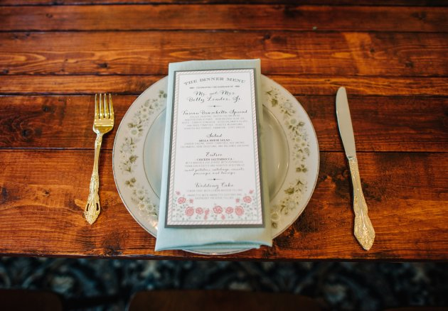 Best Photography, RW Events, Bella Collina, Dogwood Blossom Stationery, Menu 2