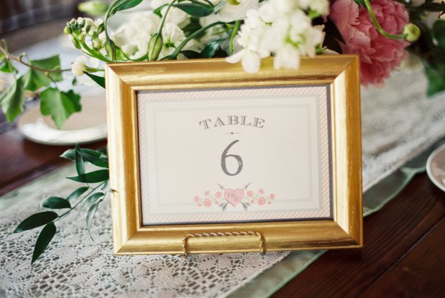 Best Photography, RW Events, Dogwood Blossom Stationery, Table Number with Flowers