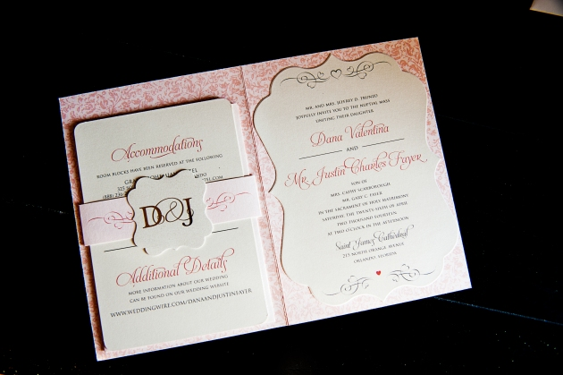 Scott Craig Photography, Dogwood Blossom Stationery, Orlando weddings, wedding invitation interior