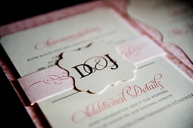Scott Craig Photography, Dogwood Blossom Stationery, Orlando weddings,  wedding invitation