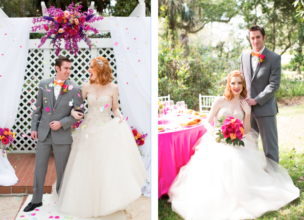 Rachel V Photography, Florida Federation of Garden Clubs, Dogwood Blossom Stationery, bride and groom collage