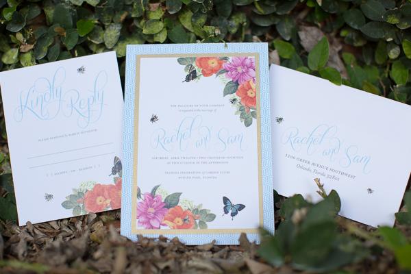 Rachel V Photography, Florida Federation of Garden Clubs, Dogwood Blossom Stationery, Custom Invitation