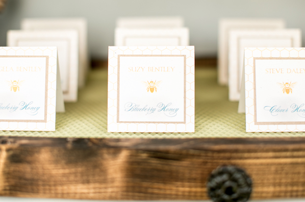 Amalie Orrange Photography, Dogwood Blossom Stationery, Honey bee escort cards, Orlando weddings