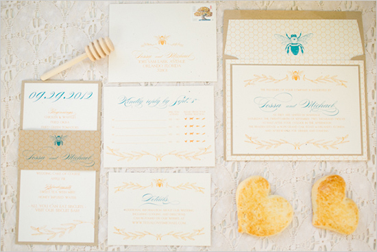 Amalie Orrange Photography, Dogwood Blossom Stationery, honeybee stationery, Orlando weddings
