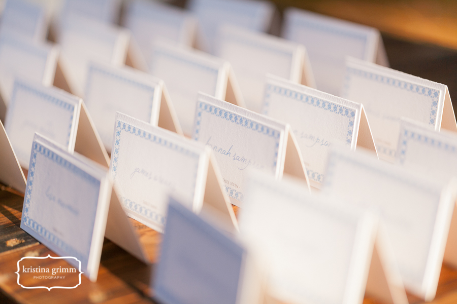 Bumby Photography, Dogwood Blossom Stationery, Wekiwa State Park, escort card display