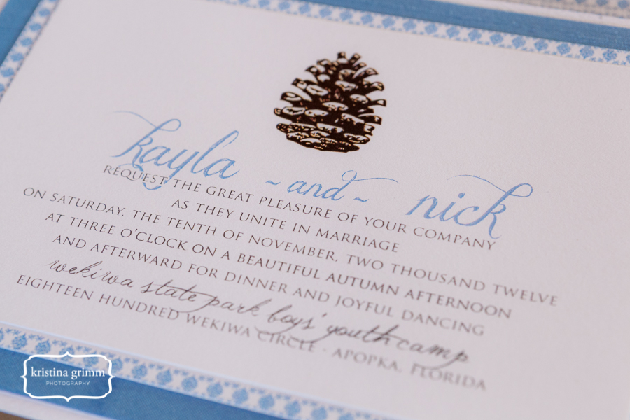 Bumby Photography, Dogwood Blossom Stationery, Wekiwa State Park, invitation close up