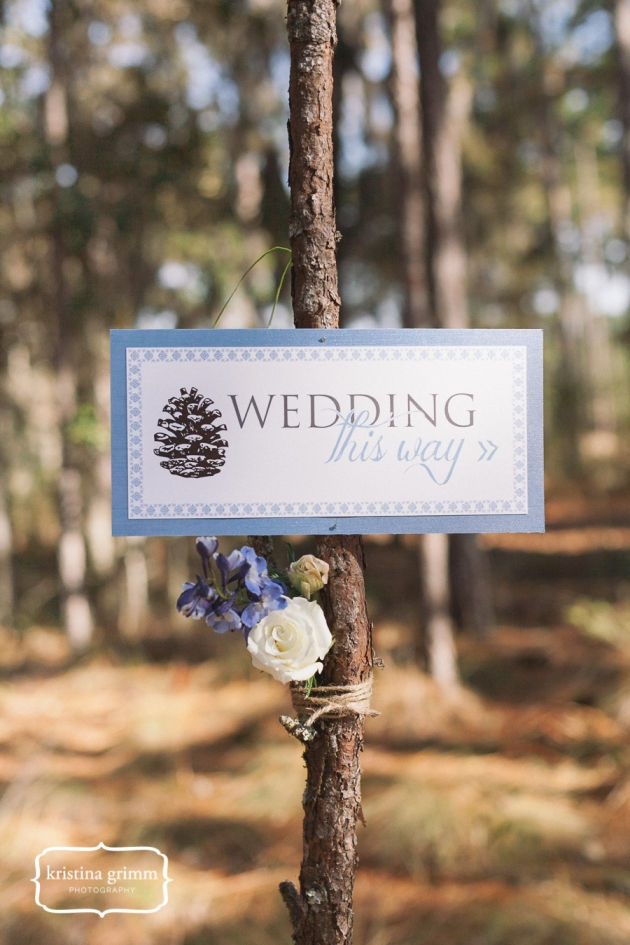 Bumby Photography, Dogwood Blossom Stationery, Wekiwa State Park, wedding sign