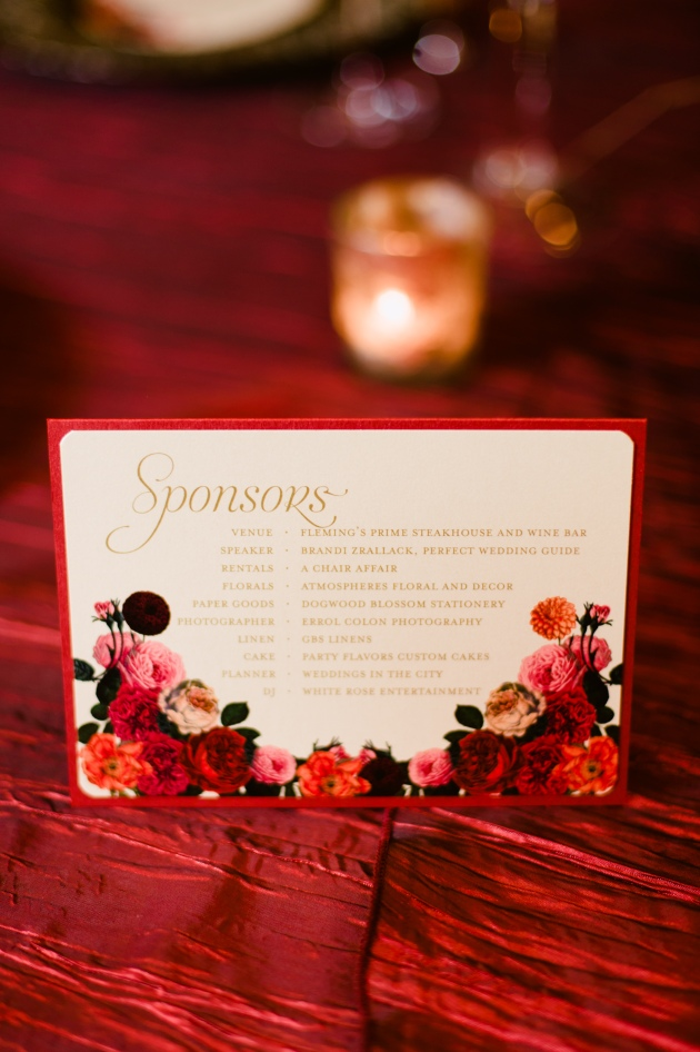Errol Colon Photography, Dogwood Blossom Stationery, Orlando weddings, sponsor card