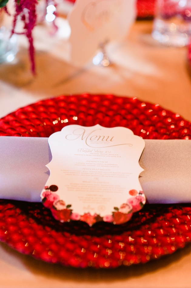 Errol Colon Photography, Dogwood Blossom Stationery, Orlando weddings, frame menu