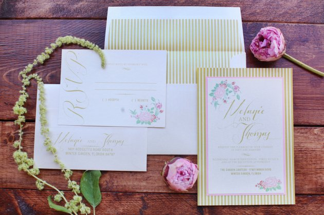 Wings of Glory Photography, Dogwood Blossom Stationery, Orlando Weddings, invitation
