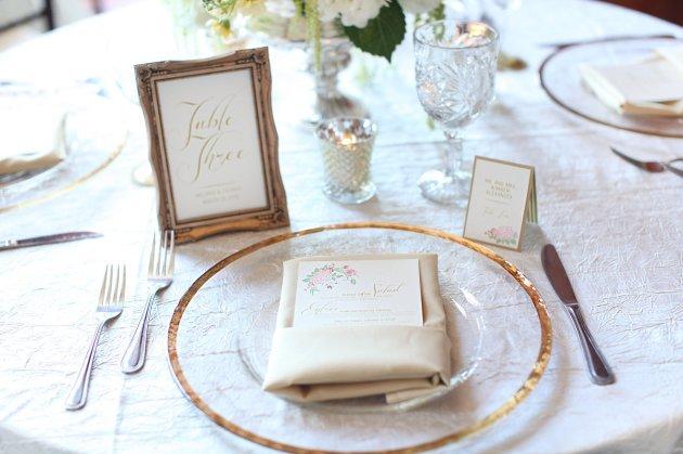 Wings of Glory Photography, Dogwood Blossom Stationery, Orlando Weddings, table stationery