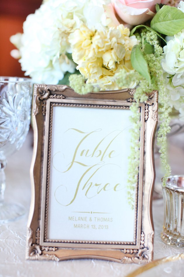 Wings of Glory Photography, Dogwood Blossom Stationery, Orlando Weddings, table numbers