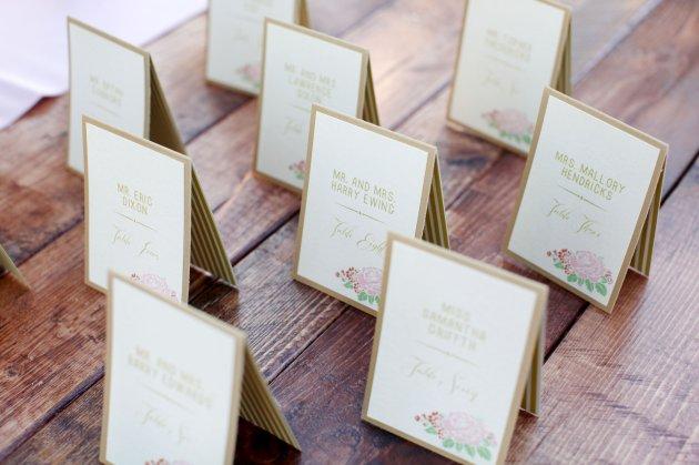 Wings of Glory Photography, Dogwood Blossom Stationery, Orlando Weddings, escort cards