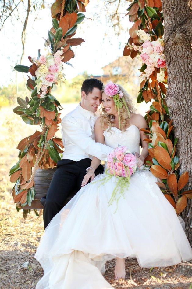 Wings of Glory Photography, Dogwood Blossom Stationery, Orlando Weddings, swing